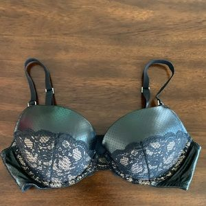 Victoria's Secret Leather  Bra Push up used 38B